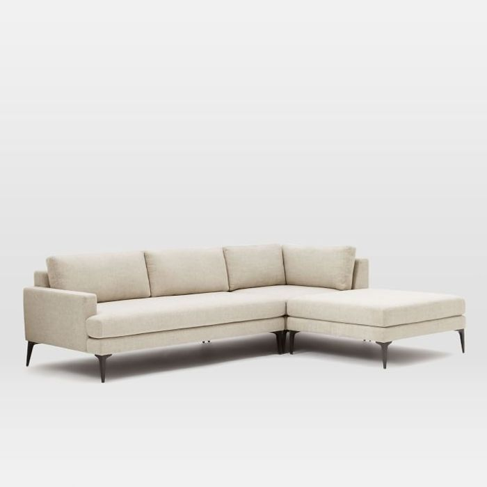 West Elm Andes 3-Piece Chaise Sectional