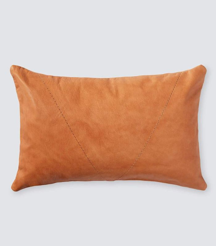 The Palermo Leather Workshop Pampas Leather Lumbar Pillow