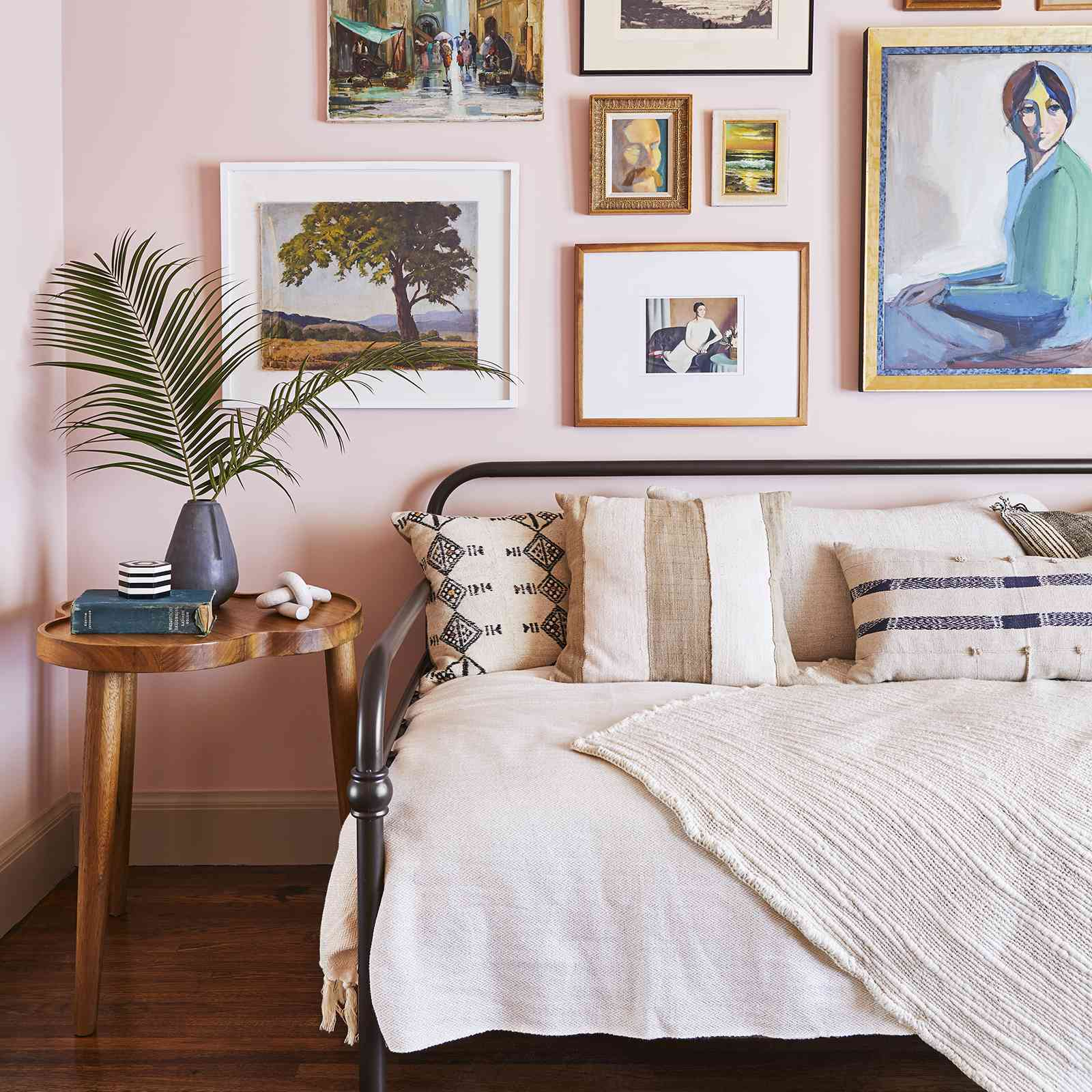 daybed with gallery wall