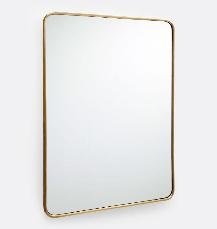 Rejuvenation Rounded Rectangular Metal Framed Mirror