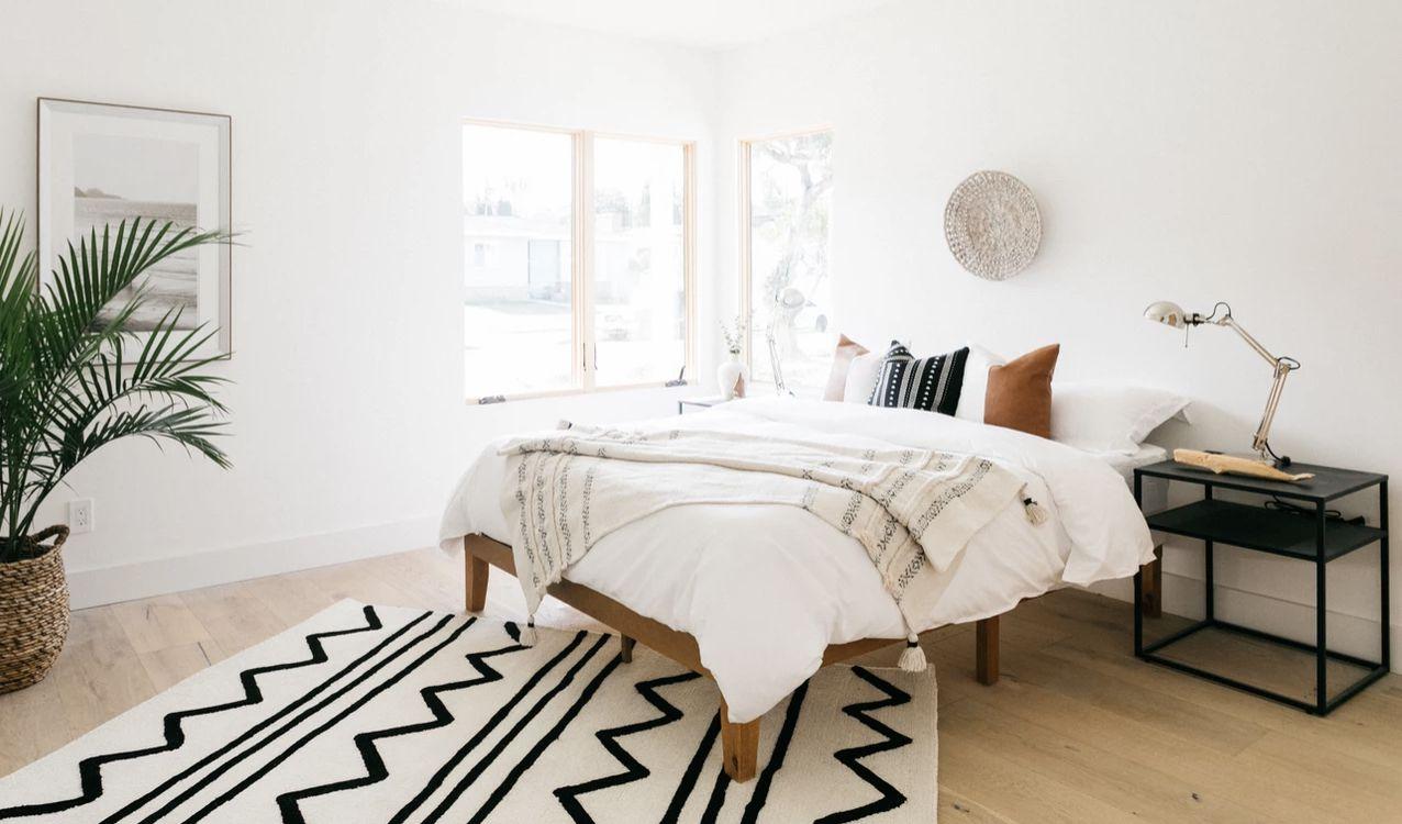 bedroom with minimalist vibes