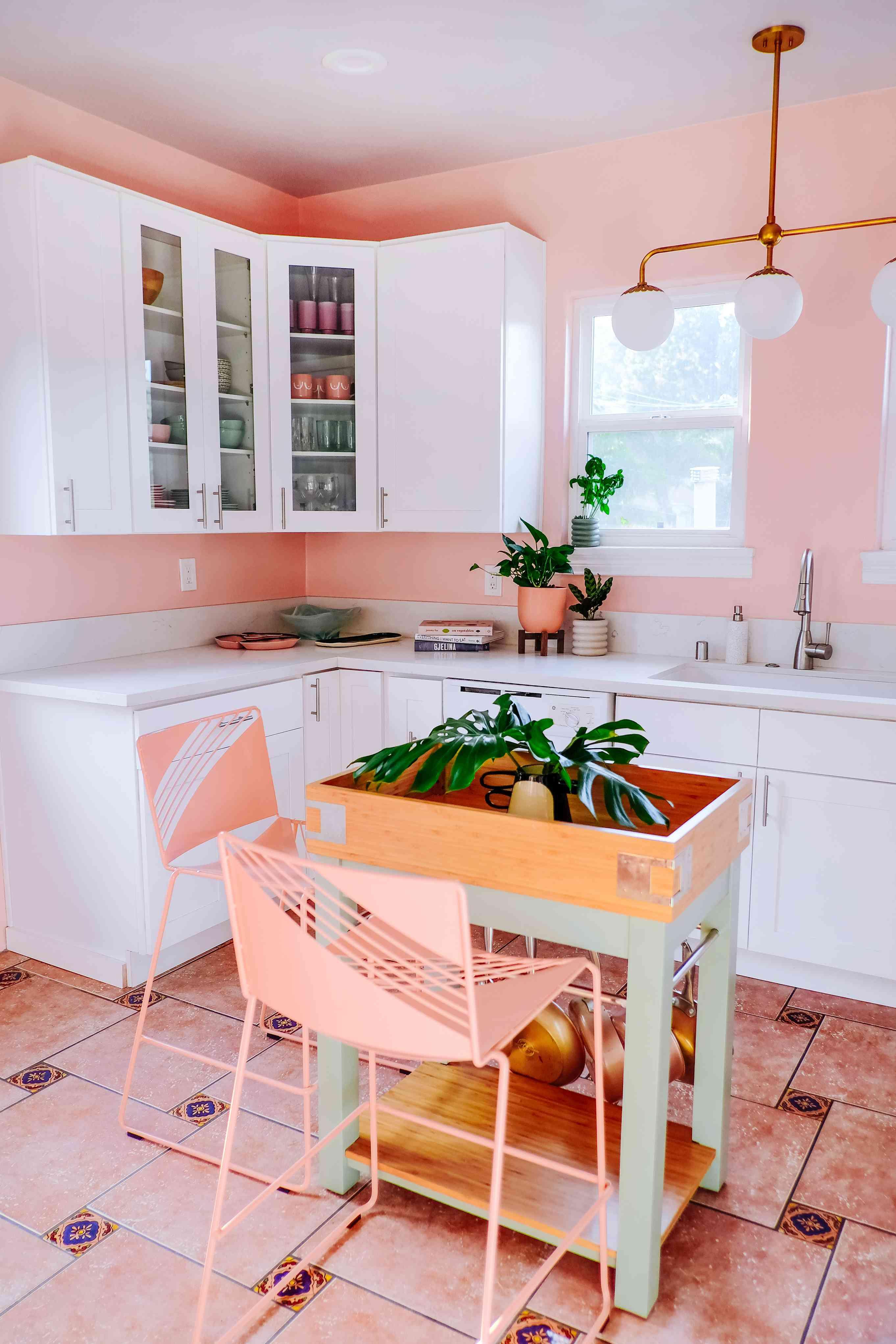 best kitchen ideas - pink kitchen