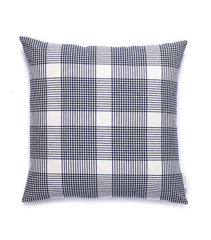 Caitlin Wilson Design Navy Petite Plaid Pillow