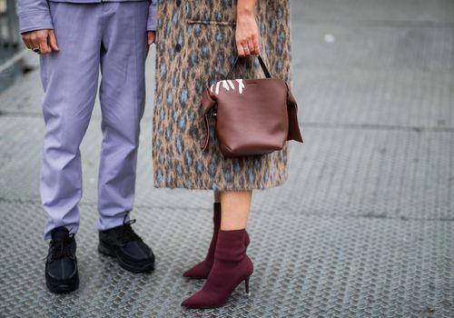 Pies de la semana de la moda
