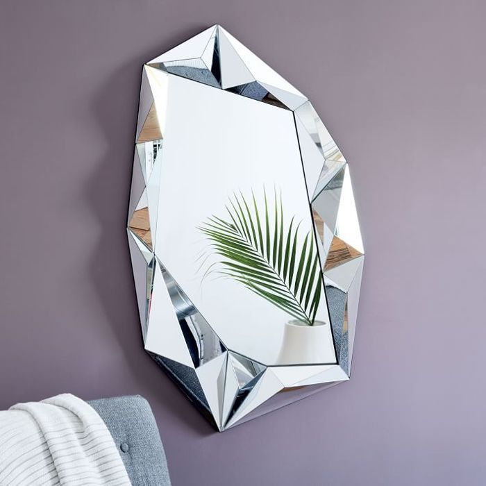 West Elm Faceted Rectangle Wall Mirror