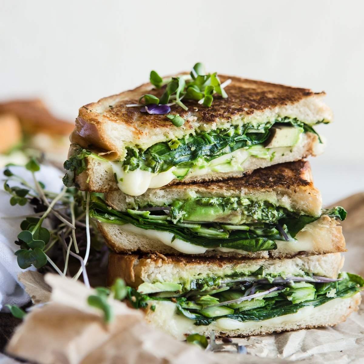 Sándwich de queso a la parrilla Green Goddess