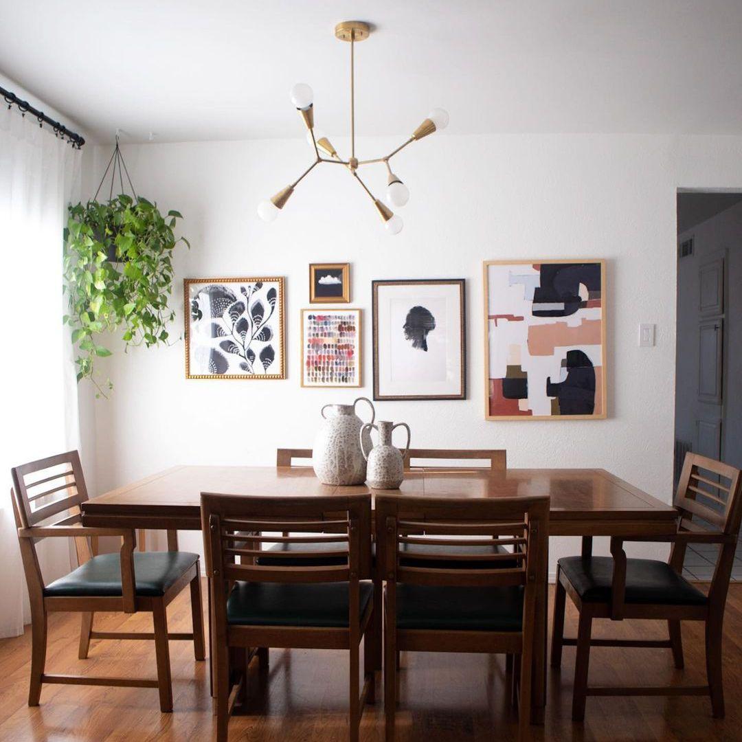 Modern funky dining room lighting fixture.