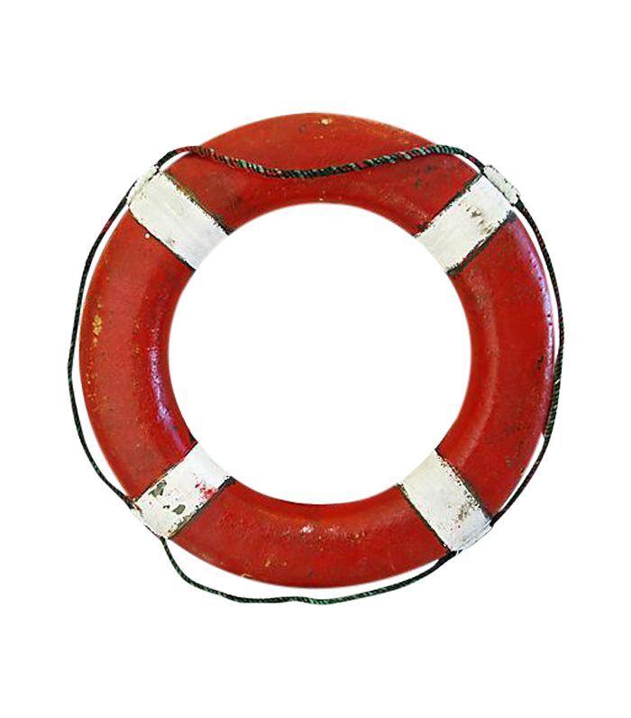 Salvavidas rojo y blanco