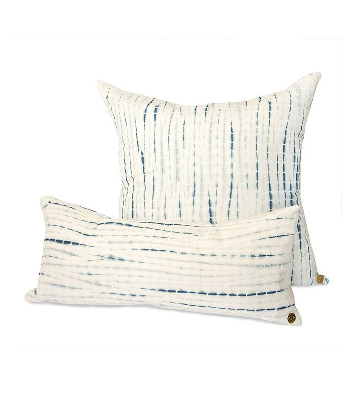 St. Frank Indigo Modern Indigo Throw Pillow