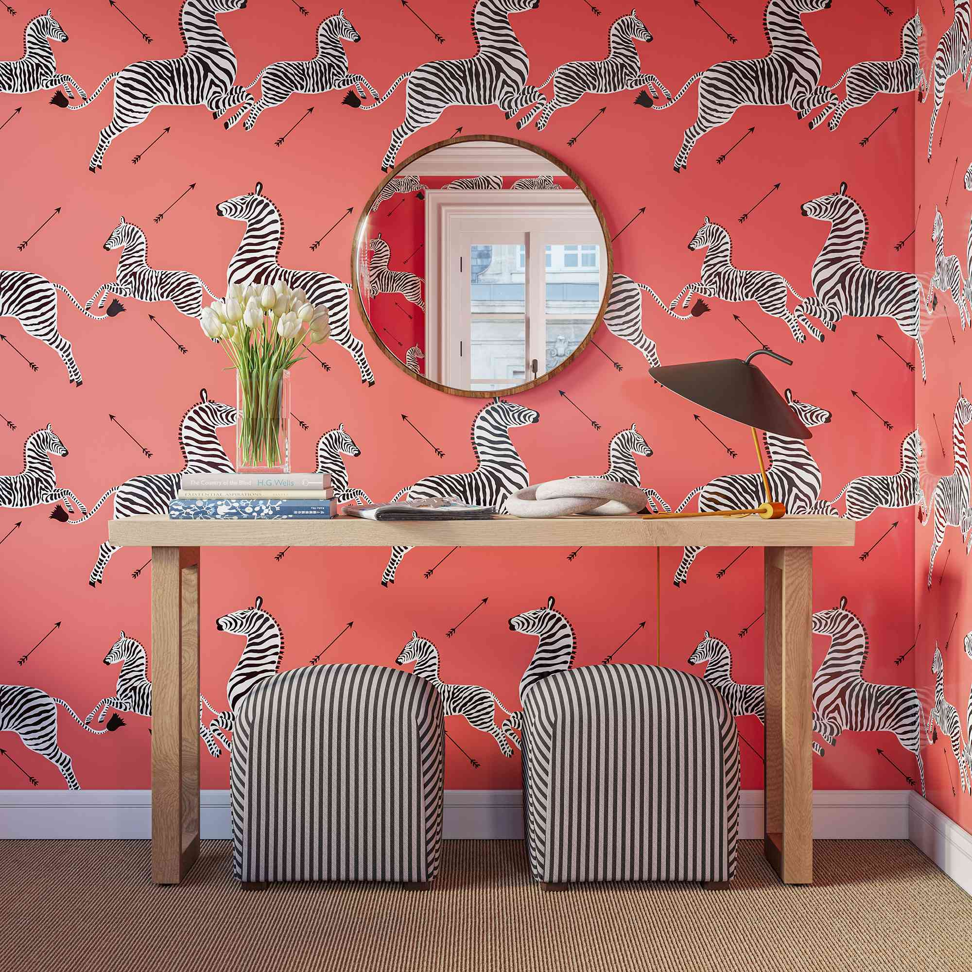 The Inside Launches Peel And Stick Scalamandre Zebra Wallpaper
