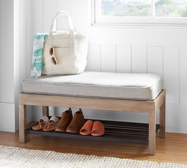 Lucy Mango Wood and Steel Storage Bench