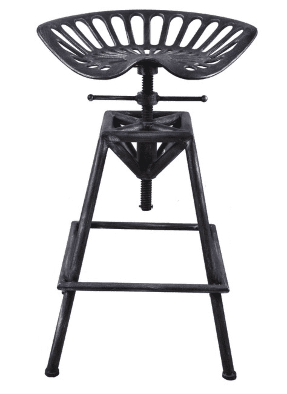 Industrial Cast Iron and Steel Bar Stool by Brikk