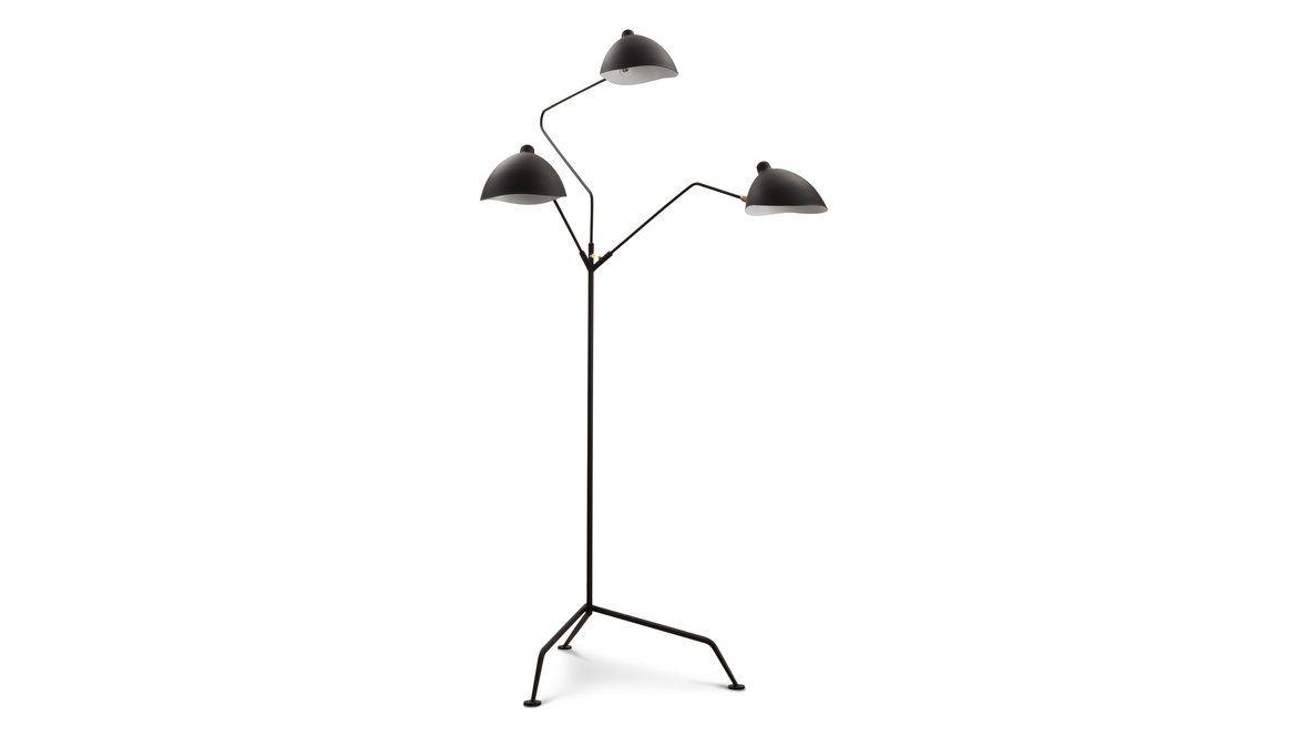 Serge Mouille three-arm lamp