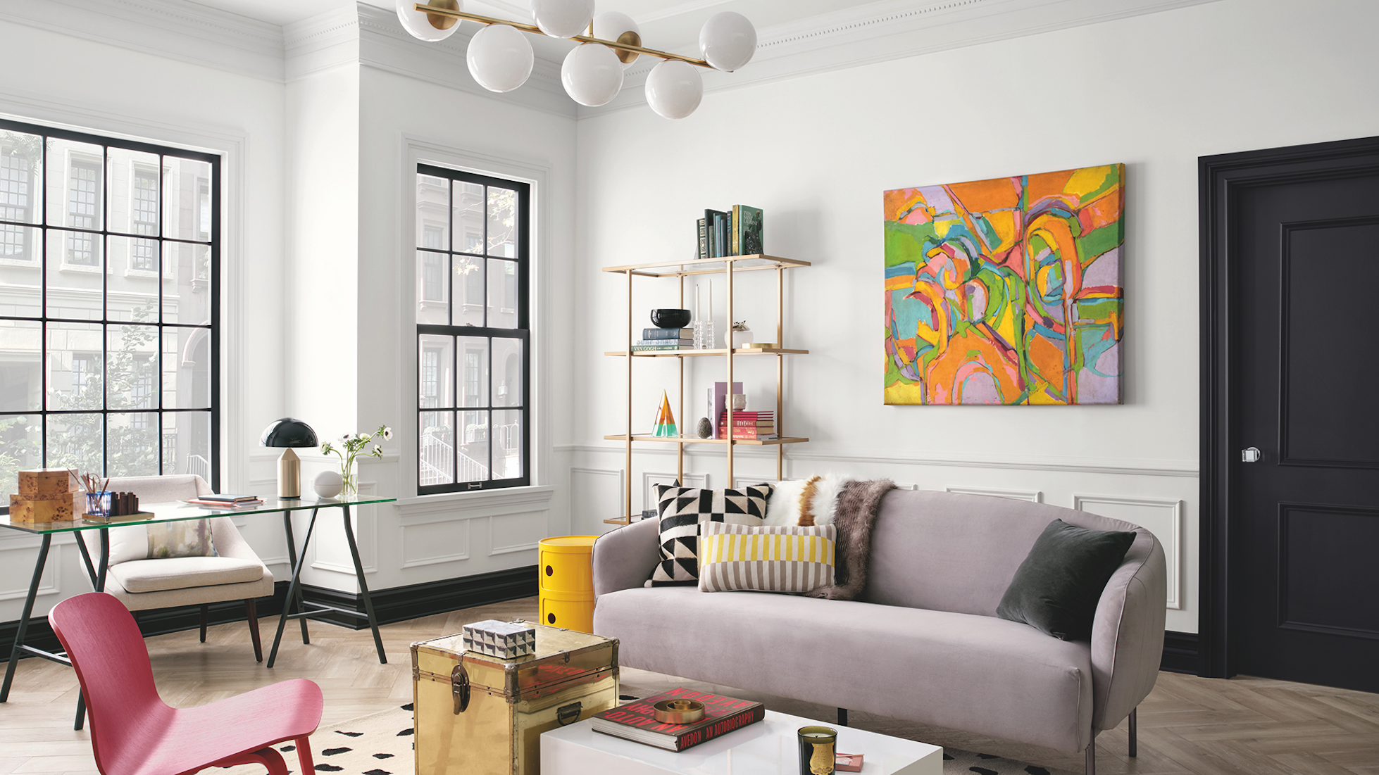 These Are The Interior Color Trends In 2020,Blue Painted Ceiling Ideas