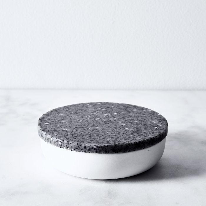 Jarre Corian & Stoneware Salt Cellar