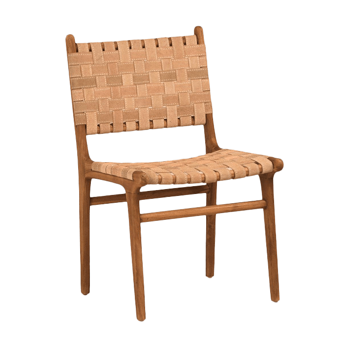 Chairish Woven Leather Dining Chair