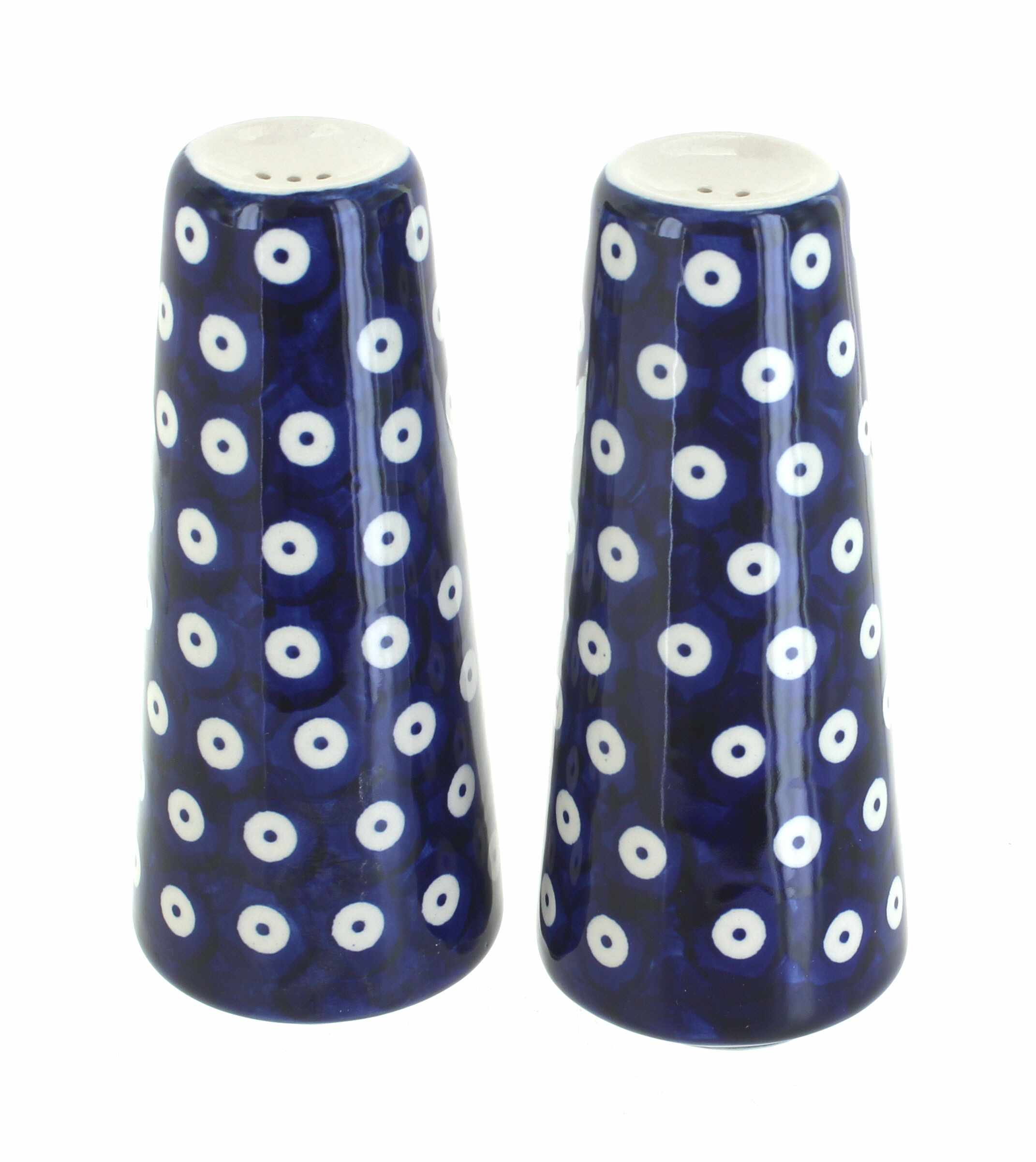 Blue and white shakers