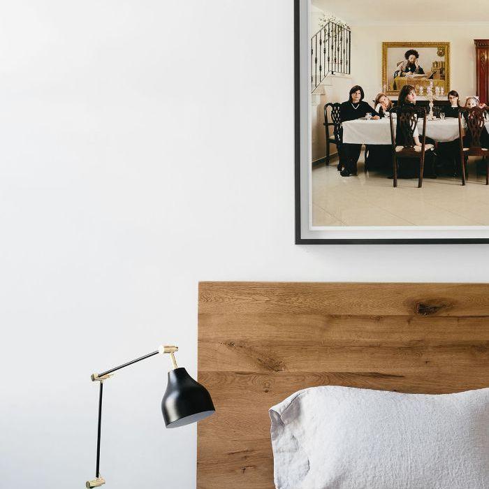 Visita a casa en blanco y negro: habitación