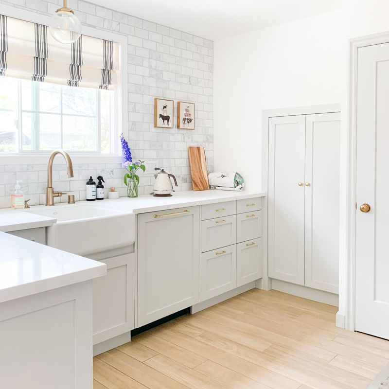 A light-filled kitchen with IKEA cabinets