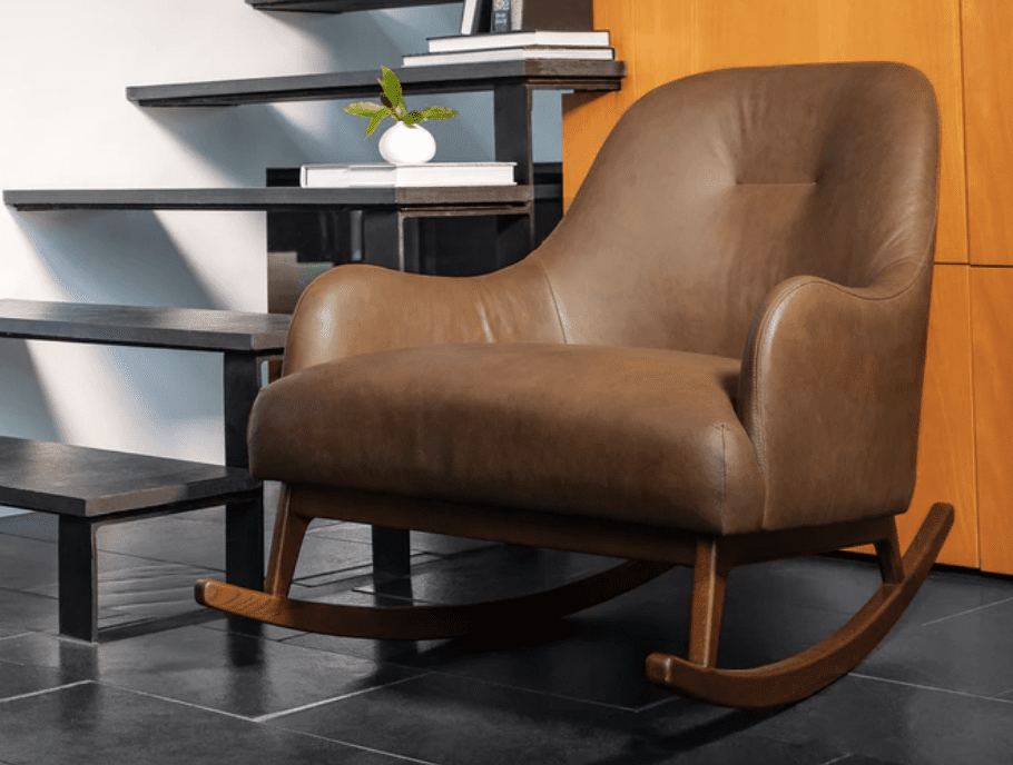 Article. - Embrace Bella Leather Rocking Chair