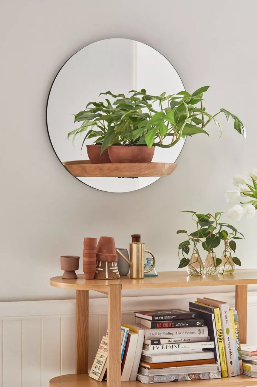 Carley Mirror Wall Shelf