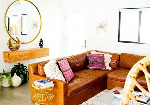 Grandes espejos redondos para salas de estar