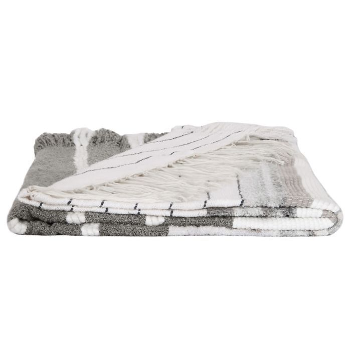 Bee & Willow Home Shag Throw Blanket in Grey