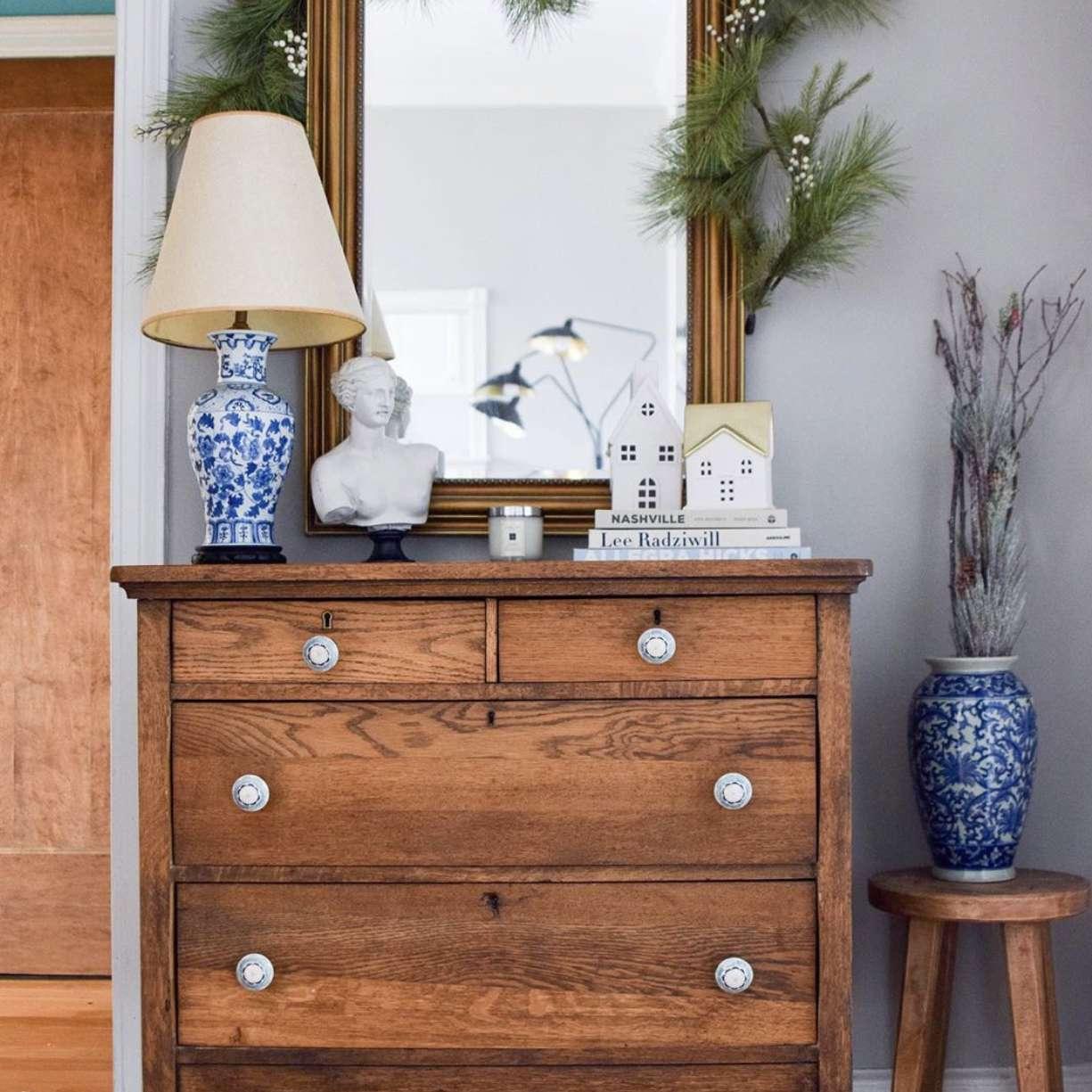 dresser in entryway