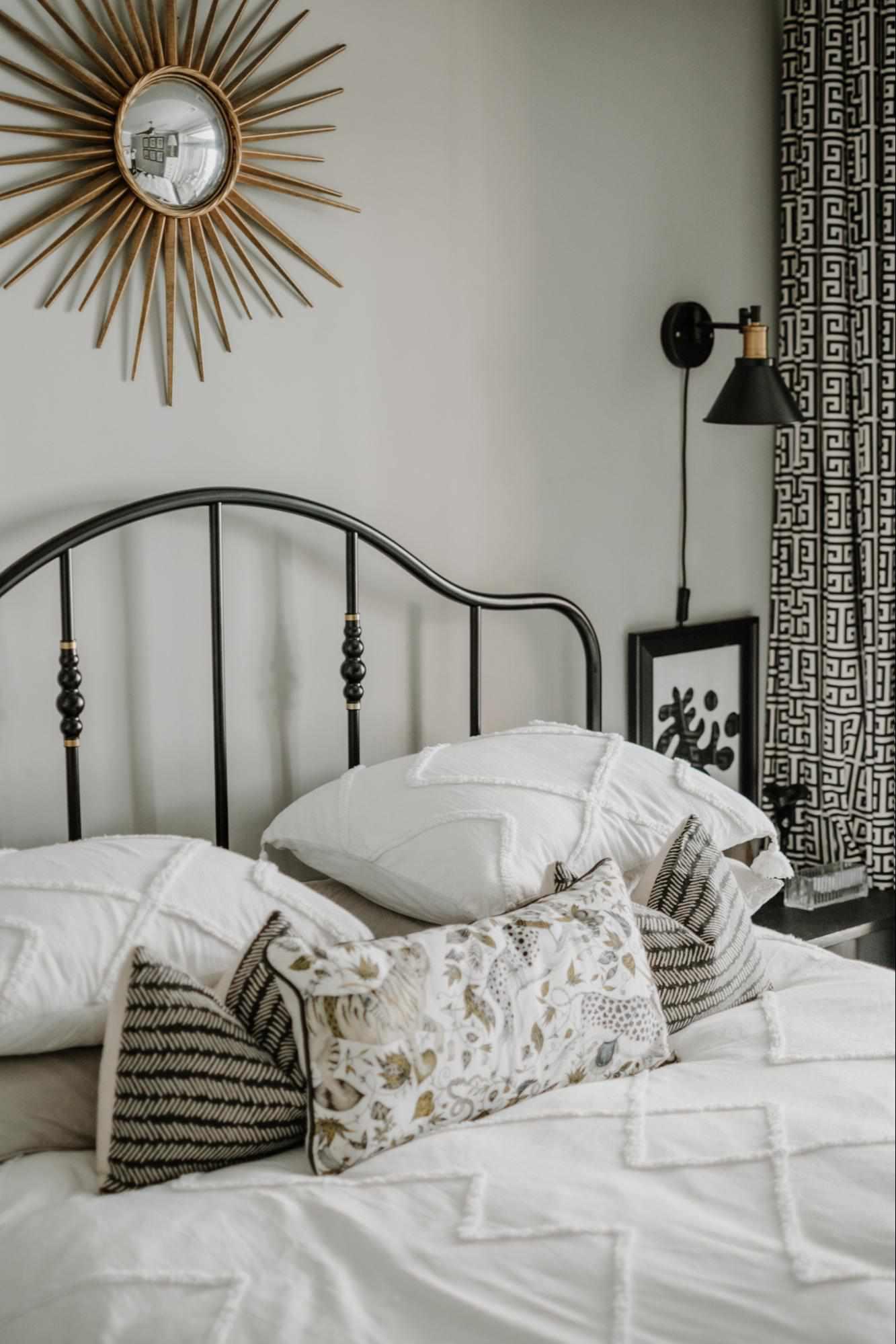 Lightweight white summer bedding.