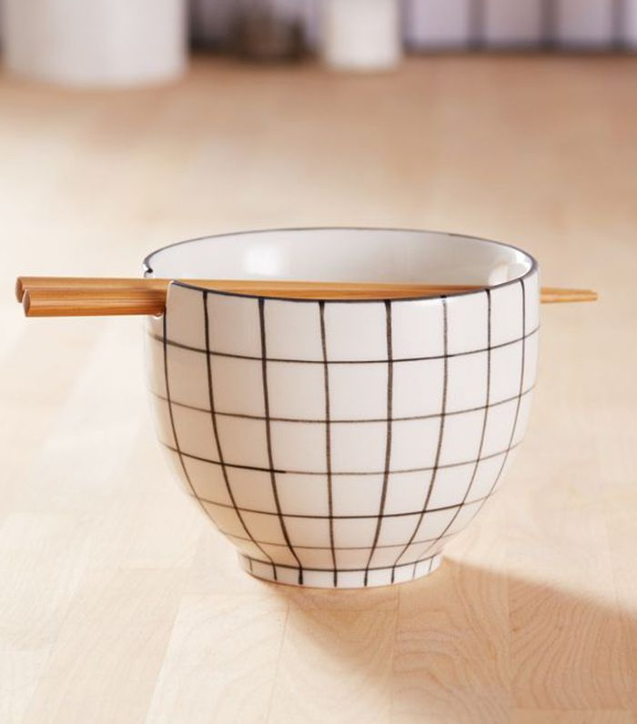 Urban Outfitters Noodle Bowl and Chopsticks Set