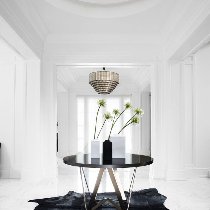 black and white entry—entryway ideas