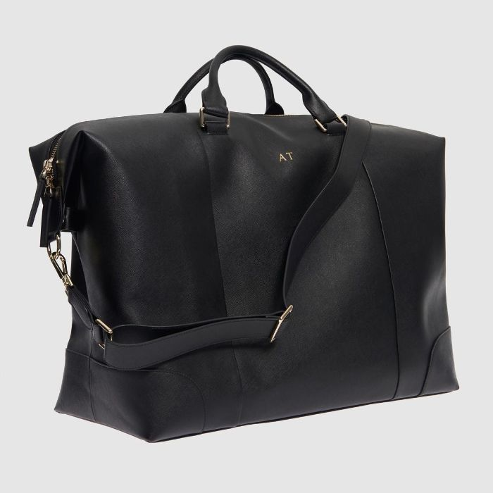 The Daily Edited Black Overnight Bag