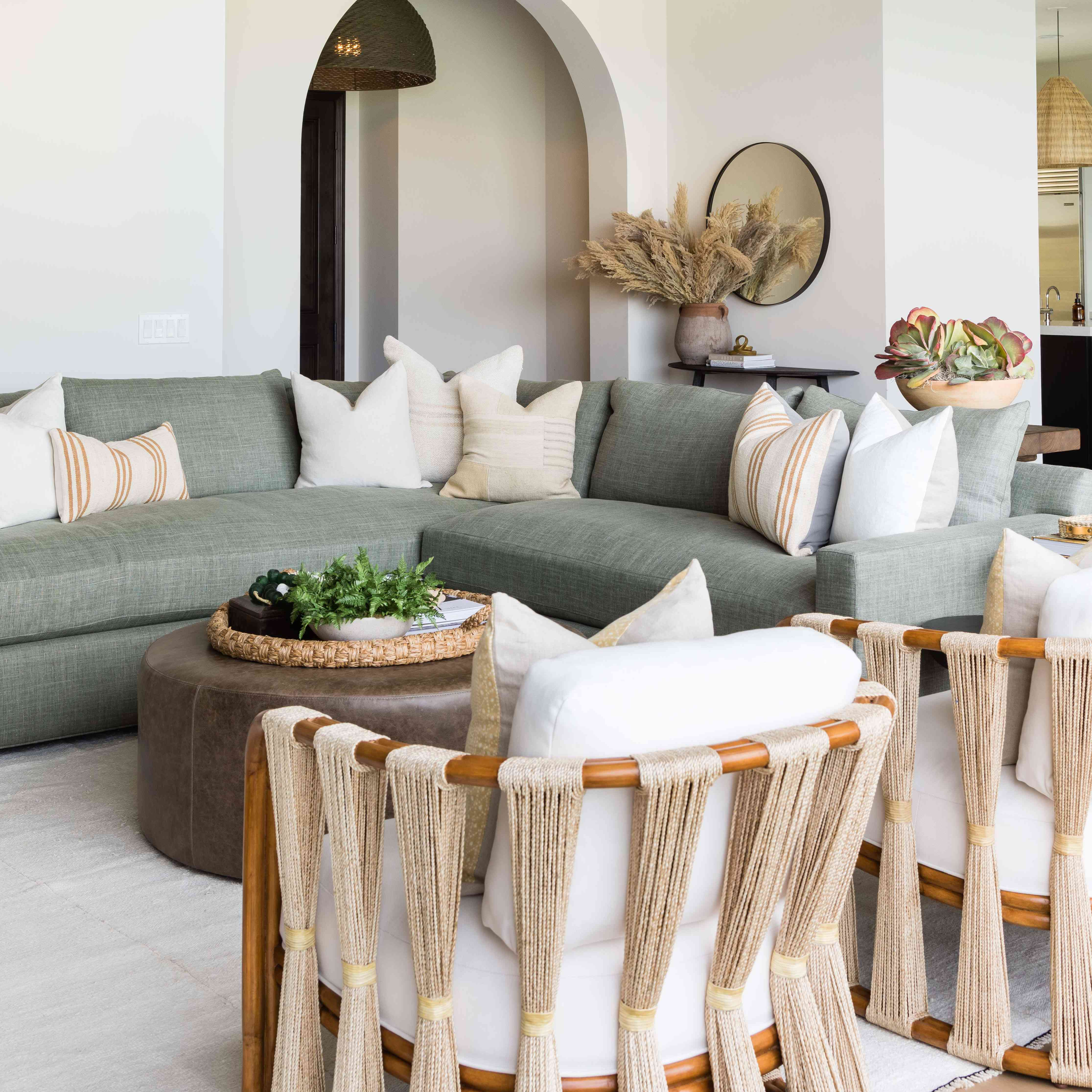 visita a casa de interiores de sal pura - sala de estar