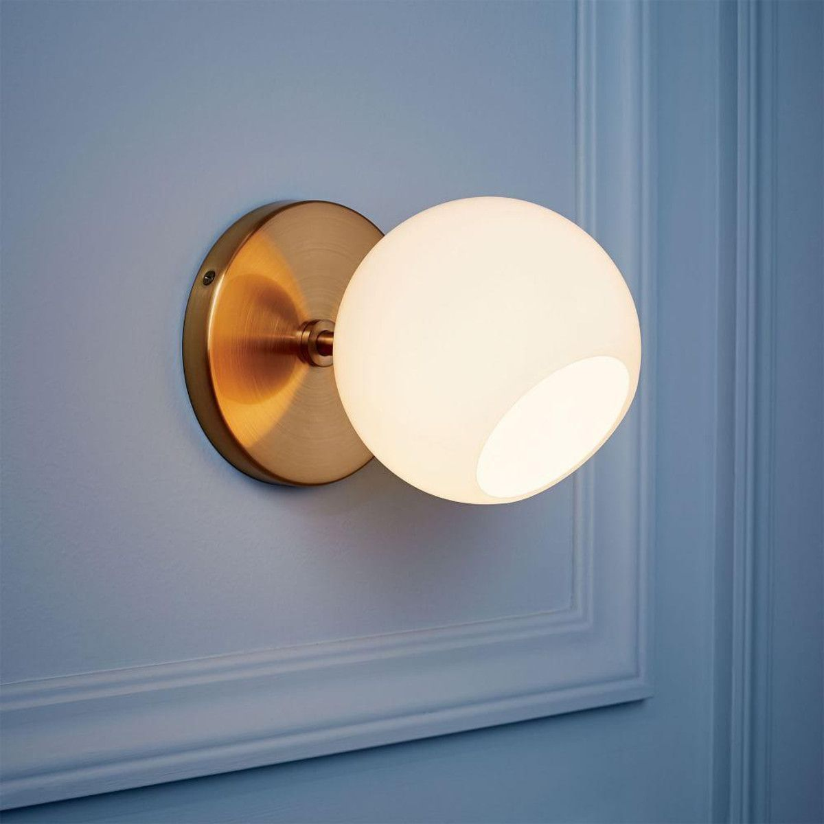 West Elm Staggered Glass Short Sconce