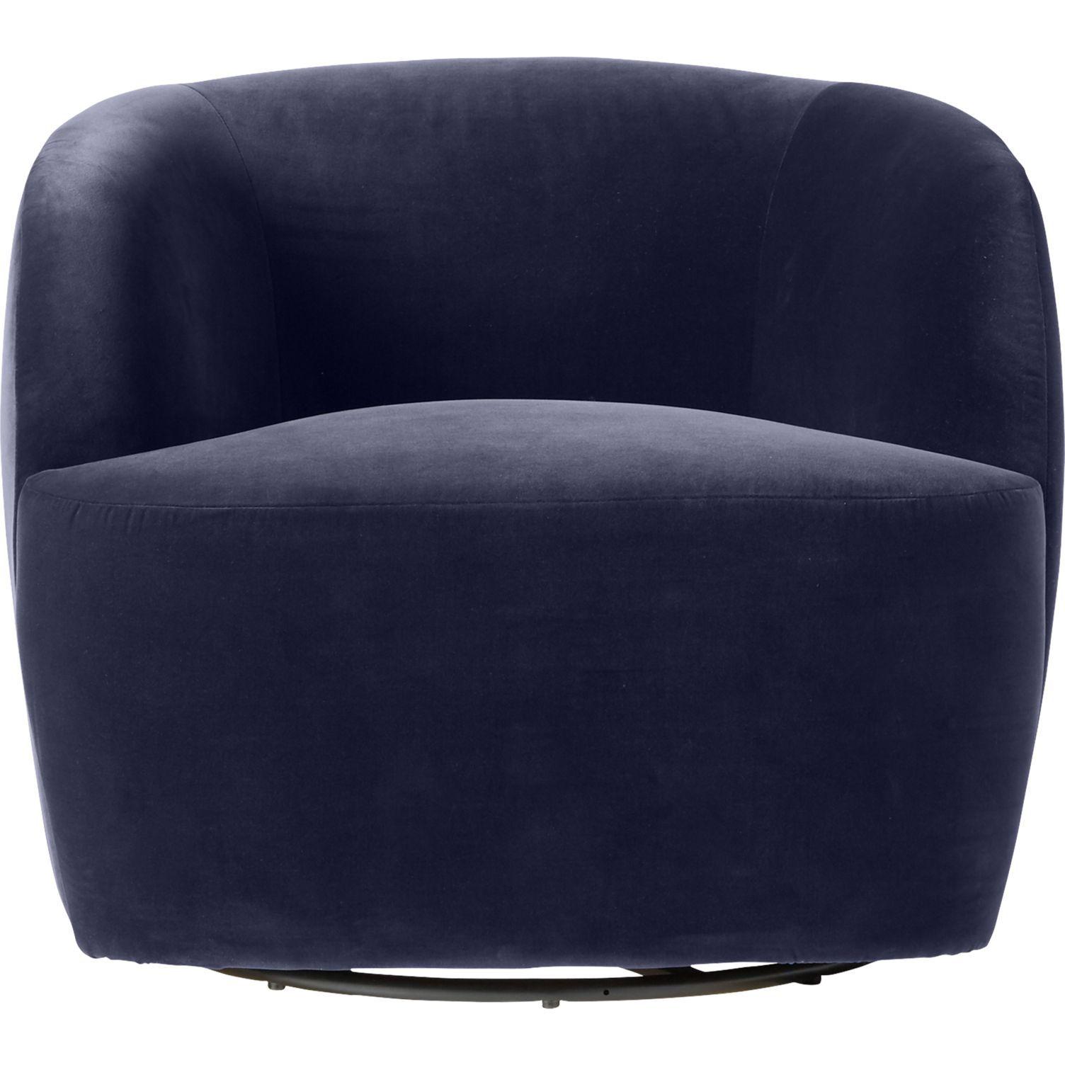 Gwyneth Navy Velvet Chair