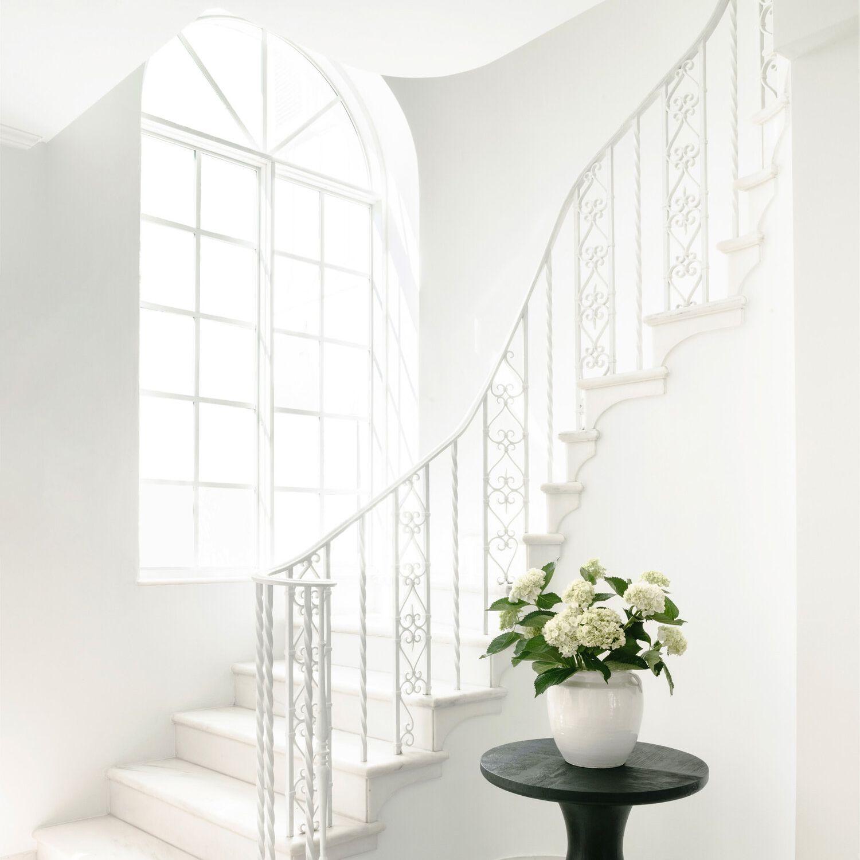 White grand staircase.