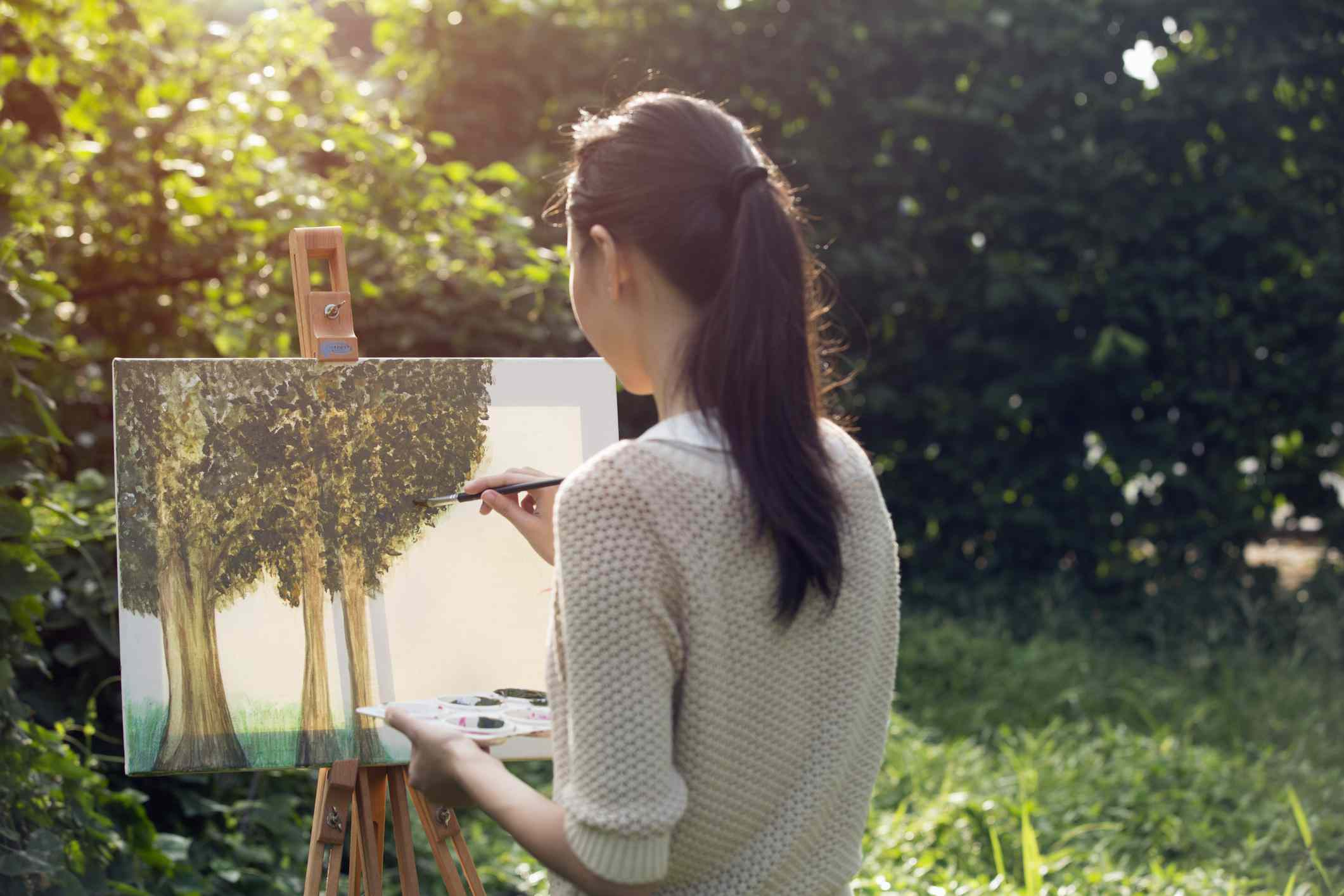 painting in park