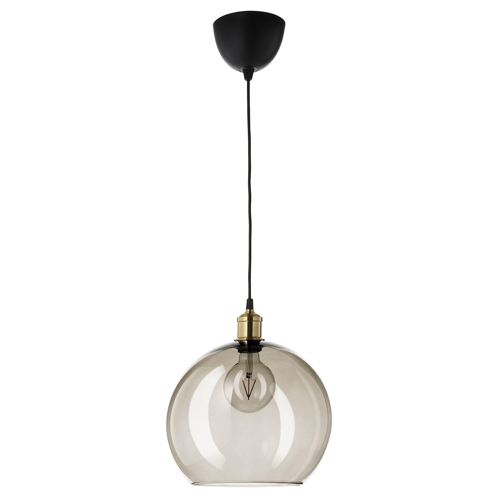 Smoked glass minimal pendant light
