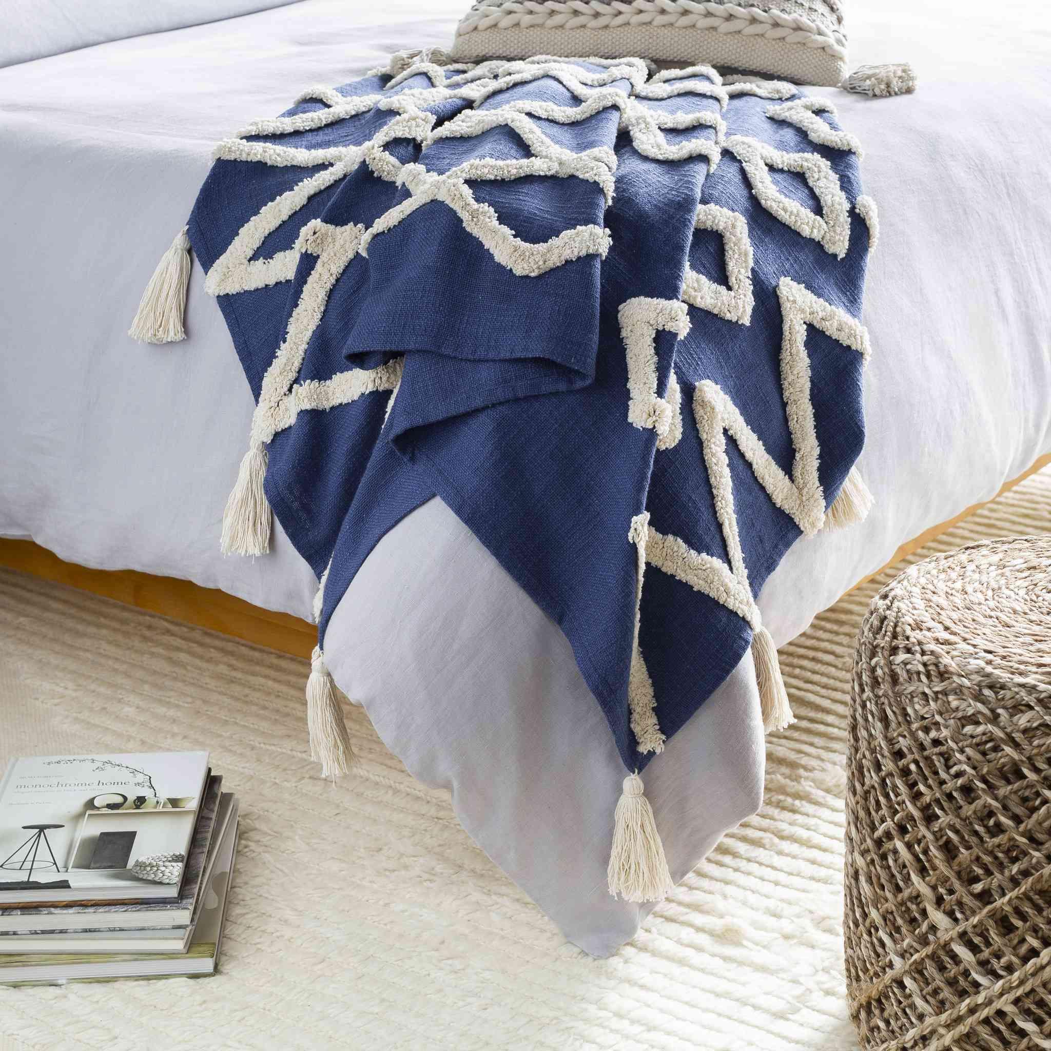 Blue Throw Blanket