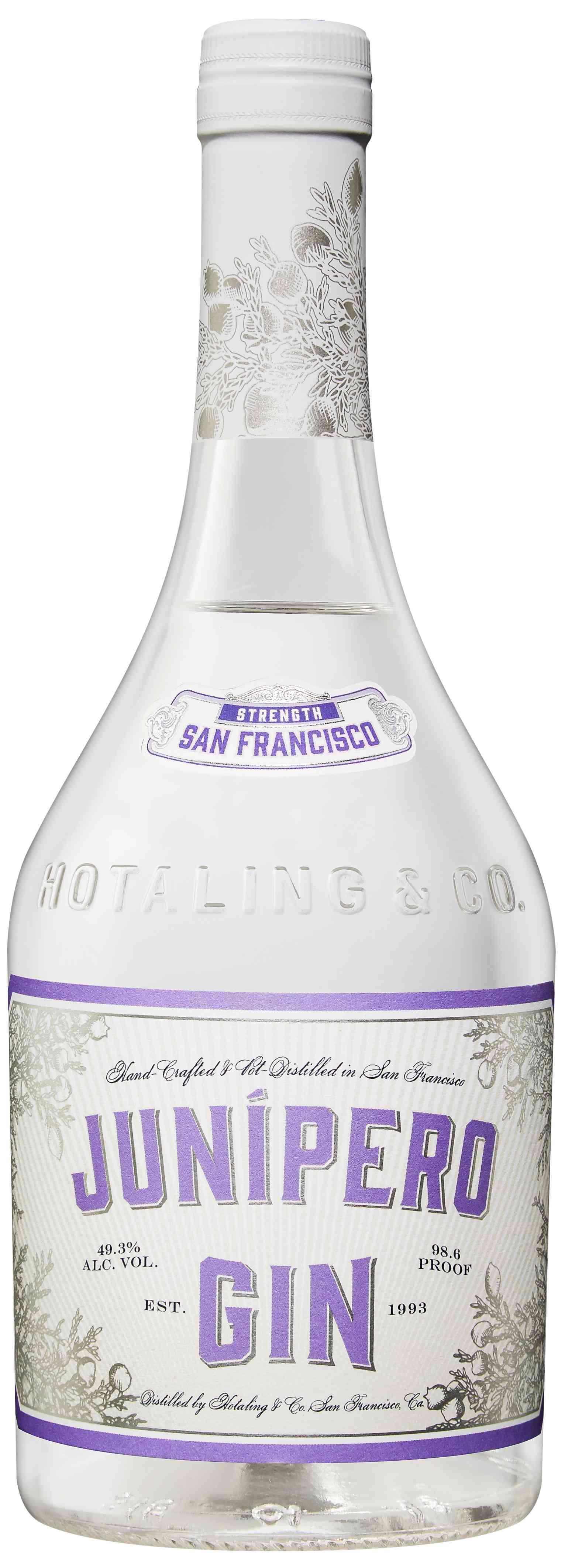 Bottle of Hotaling & Co. Junípero Gin