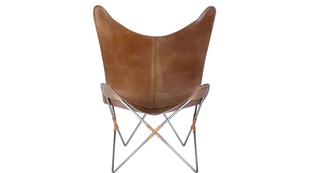 BBELGRANO BROWN LEATHER BUTTERFLY CHAIR