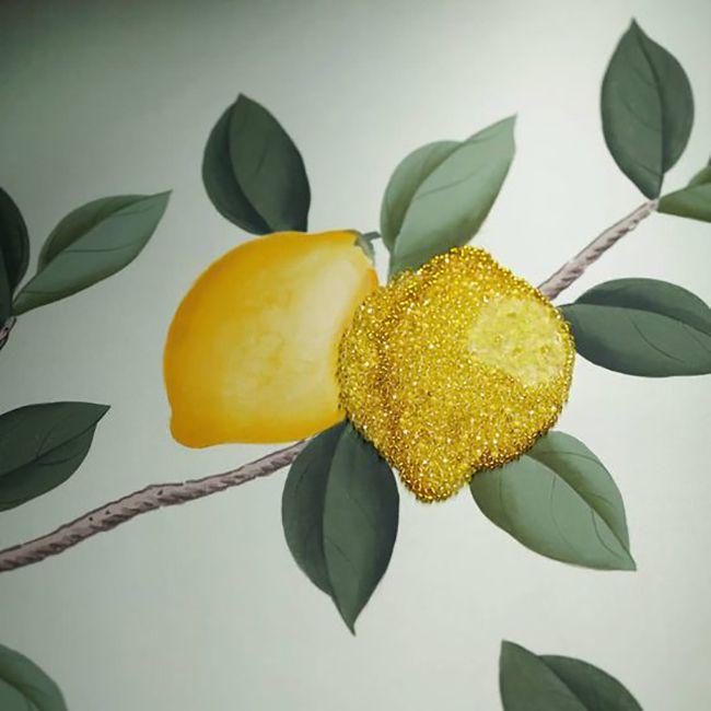 de Gournay lemon grove wallpaper