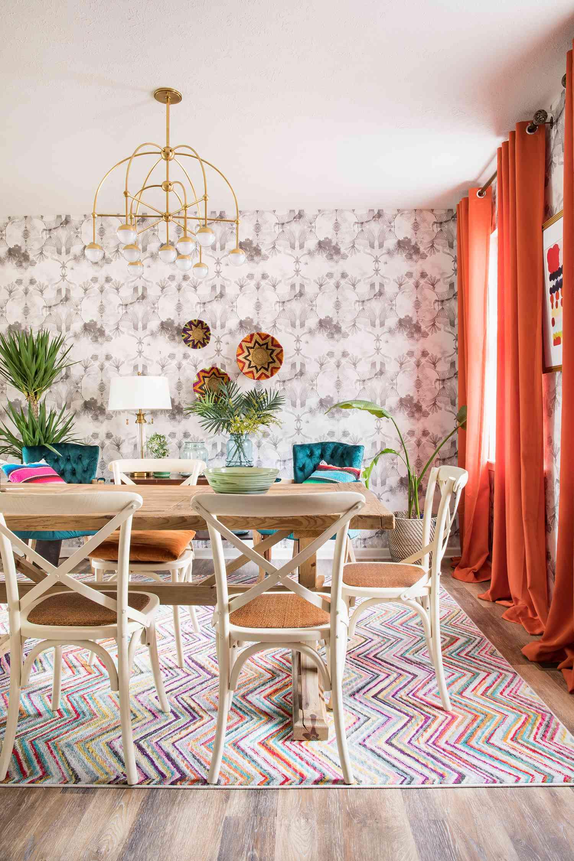 casa watkins living home tour - bohemian dining room