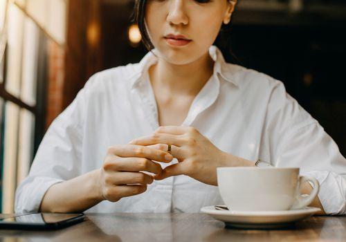 woman contemplating divorce