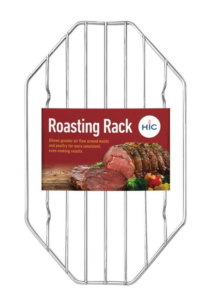 HIC Wire Roasting Baking Broiling Rack, 10-Inches x 6-Inches