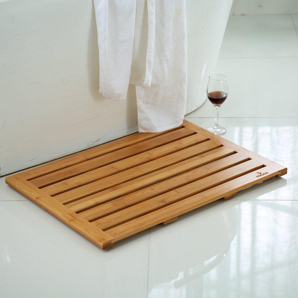 Natural Bamboo Bath Shower Mat