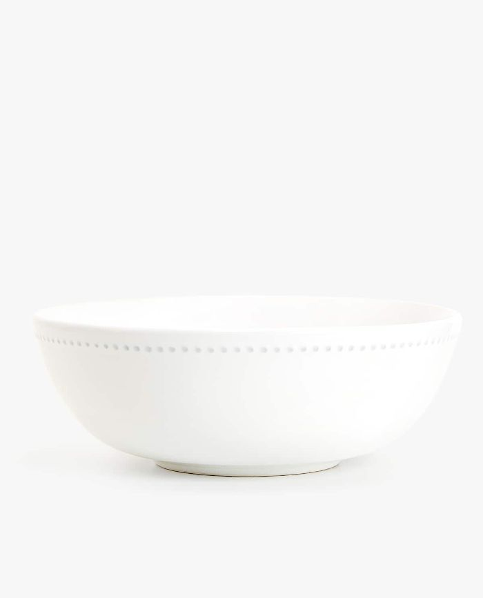 Zara Home Earthenware Salad Bowl with Raised Design Edge