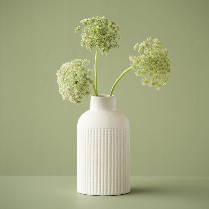 Magnolia Zoe Striped Ceramic Vase