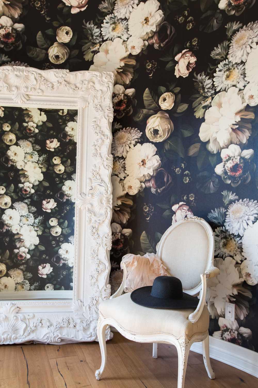 wallpaper closet idea