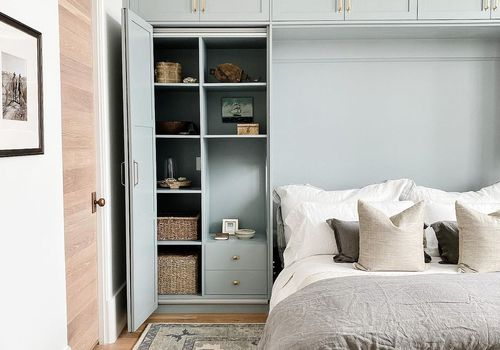 blue murphy bed